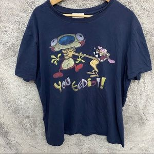 Y2K Vintage Ren and Stimpy Cartoon Shirt
